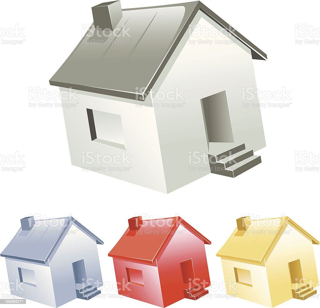 single home colors royalty-free stock vector art