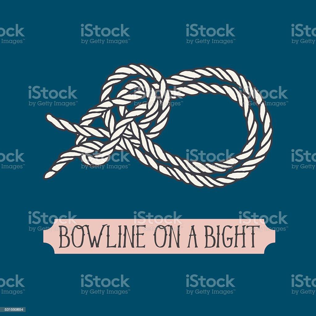 Single illustration of nautical knot.