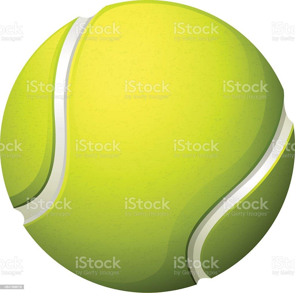 Single light green tennis ball vector art illustration