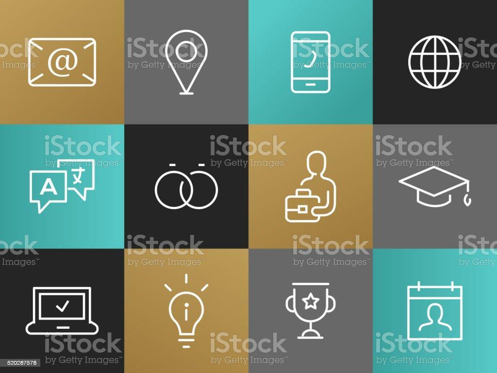 icone pour cv vecteurs et illustrations libres de droits