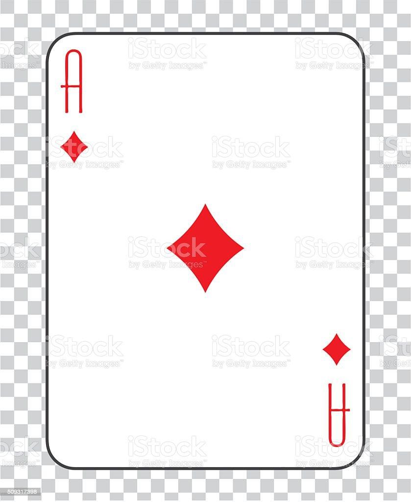 Single playing cards vector: Ace  Diamonds vector art illustration