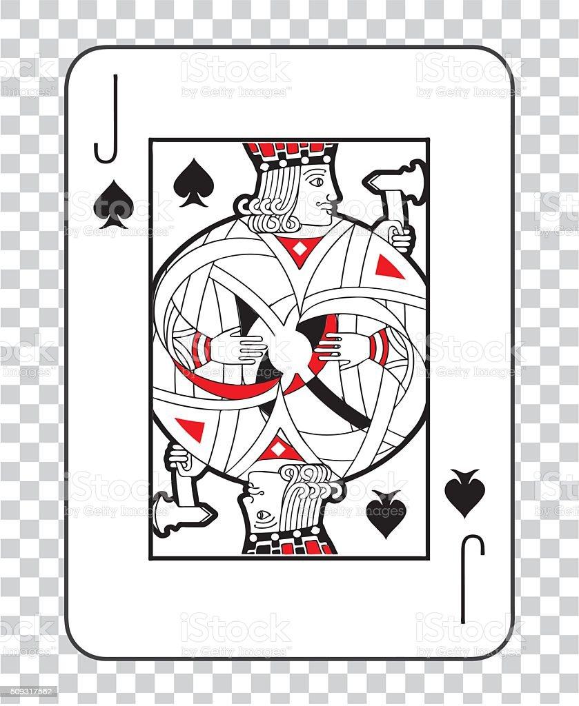 Single playing cards vector: Jack Spades vector art illustration