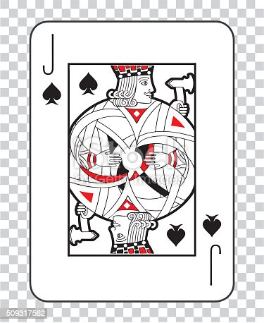 Single Playing Cards Vector Jack Spades Stock Vector Art