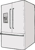 Single refrigerator with water dispenser