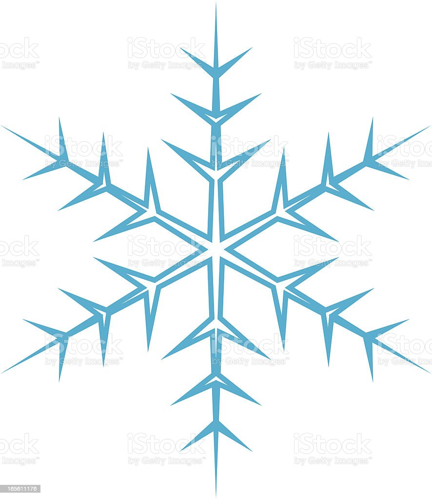 Single Snowflake, Vector Design vector art illustration