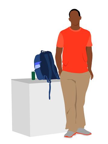 Single Student Flat Design