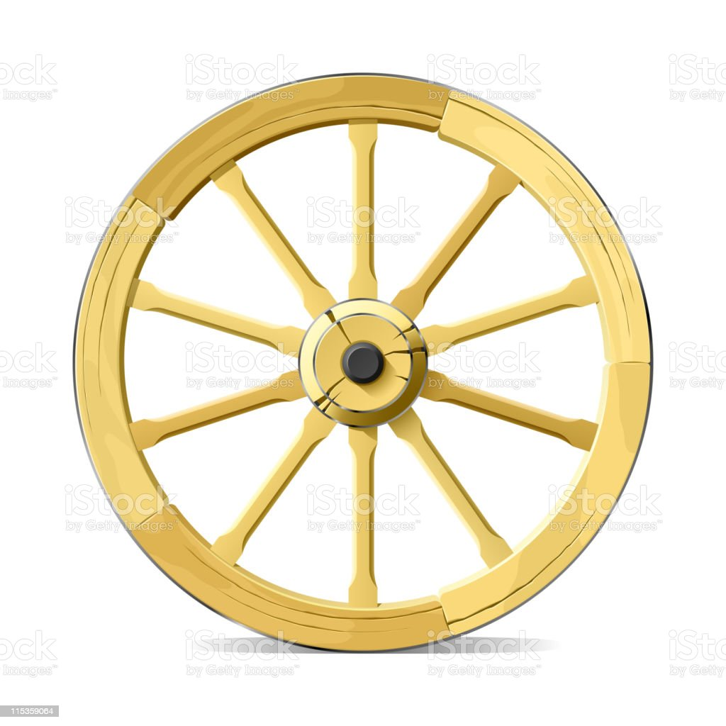 royalty free wagon wheel clip art vector images illustrations rh istockphoto com clipart for broken wagon wheel free clipart wagon wheel