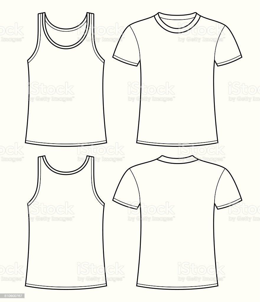 T shirt template back