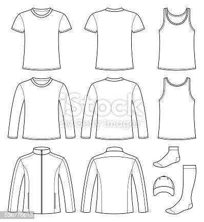 istock Singlet, T-shirt, Long-sleeved T-shirt, Jacket, Socks and Cap te 536776613