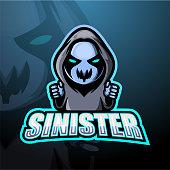 Vector illustration of Sinister mascot esport logo design