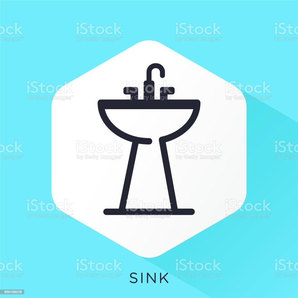 Sink Icon vector art illustration