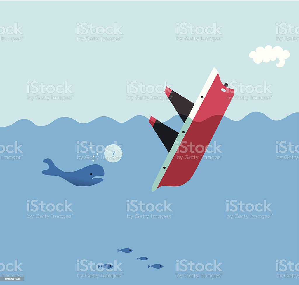 Sinker vector art illustration