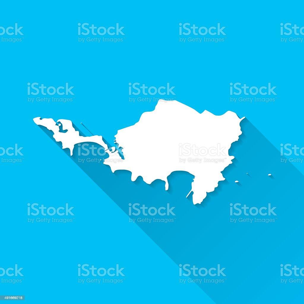シントマールテン島のマップ青色...