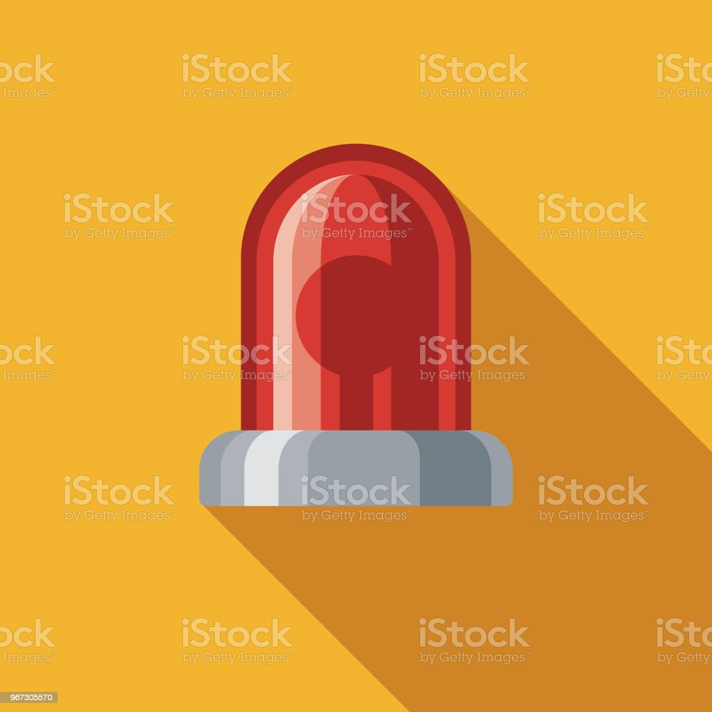 Siren Flat Design Crime & Punishment Icon vector art illustration