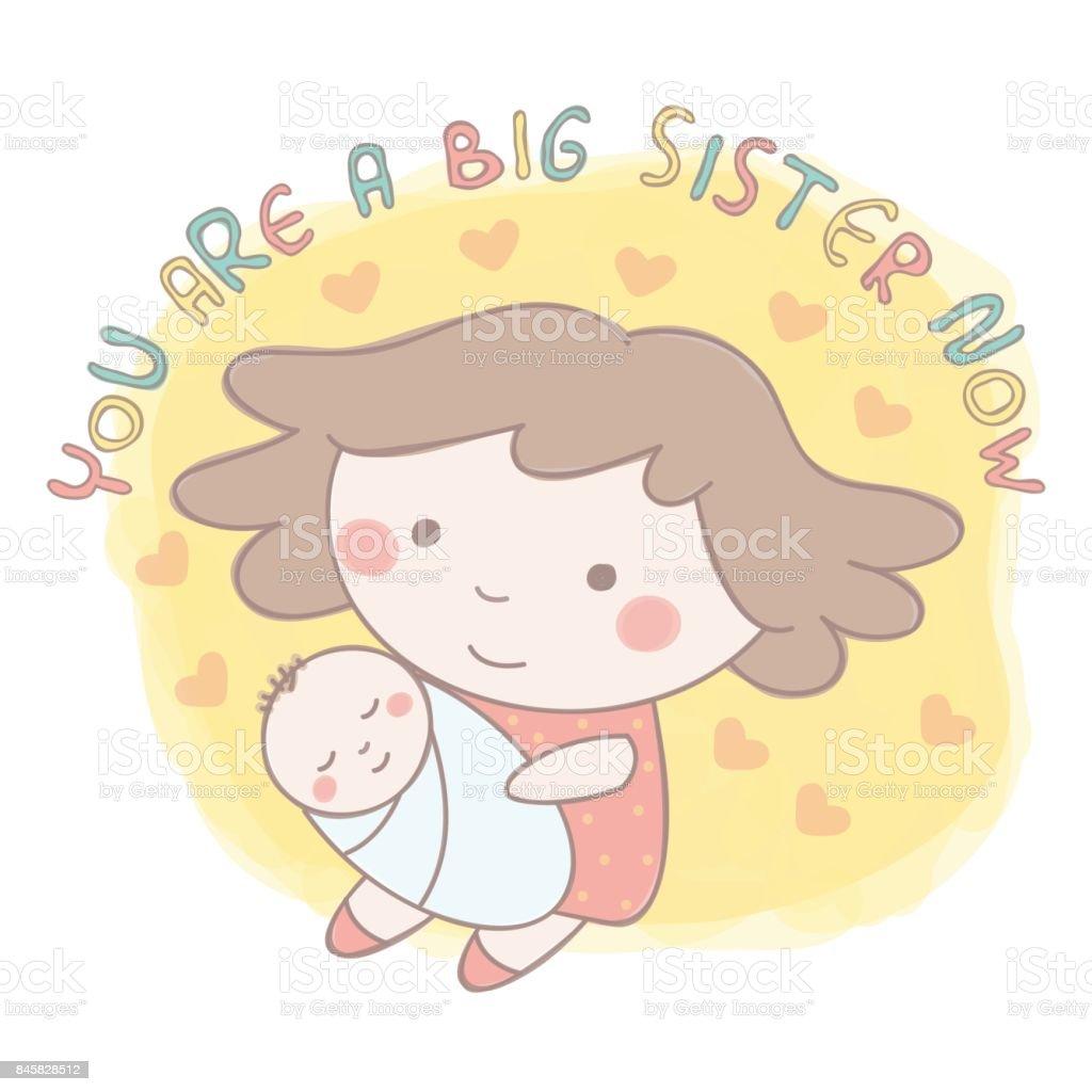 Irmãos e irmãs - ilustração de arte em vetor