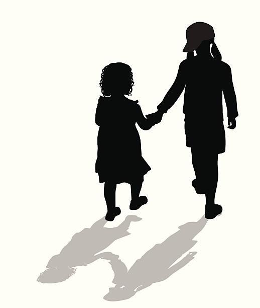 ilustrações, clipart, desenhos animados e ícones de sistersicon - irmã