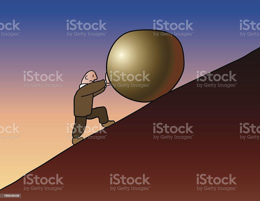 Sisyphus royalty-free stock vector art