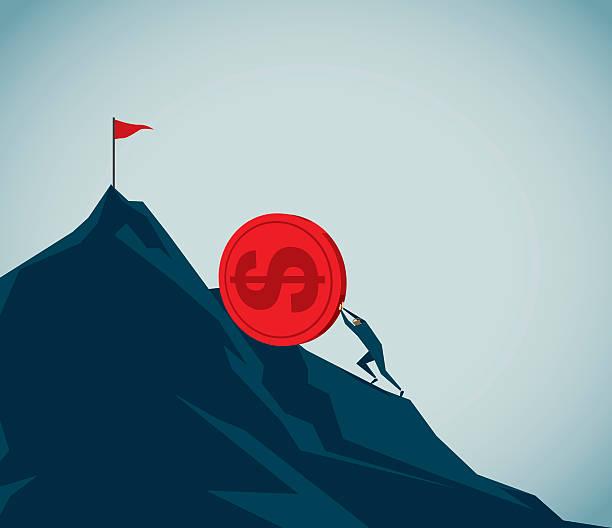 sisyphus - geldstrafe stock-grafiken, -clipart, -cartoons und -symbole