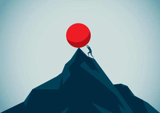sisyphus Illustration and Painting endurance stock illustrations