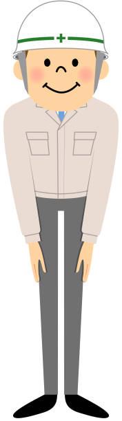 現場監督、ボー - お礼点のイラスト素材/クリップアート素材/マンガ素材/アイコン素材