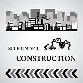 site under construct  symbol