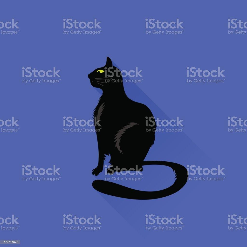 Sitting Cat Icon vector art illustration