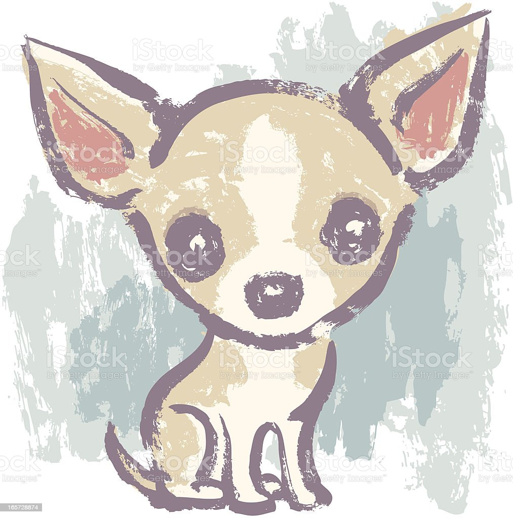 Sitting Chihuahua vector art illustration