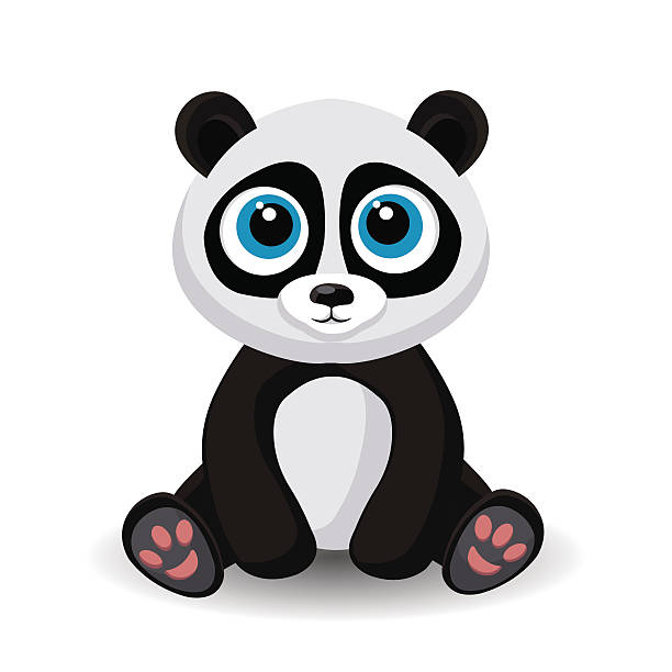Royalty Free Panda Sitting Clip Art, Vector Images ...