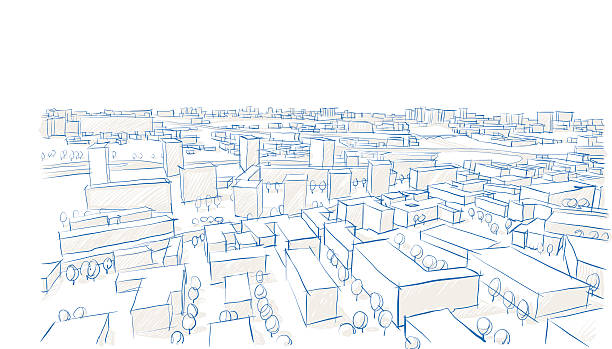 Sity. Town. Buildings vector art illustration