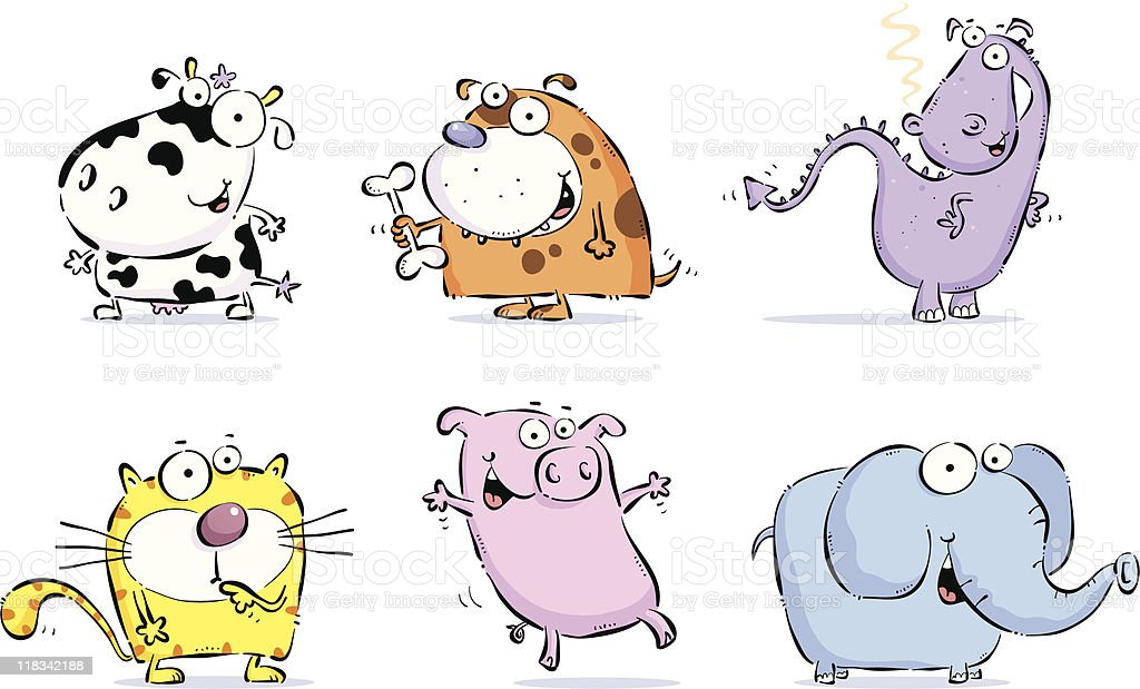 Six Animals royalty-free six animals stock vector art & more images of animal