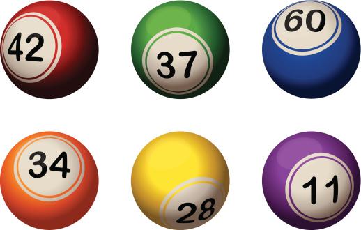 six bingo balls