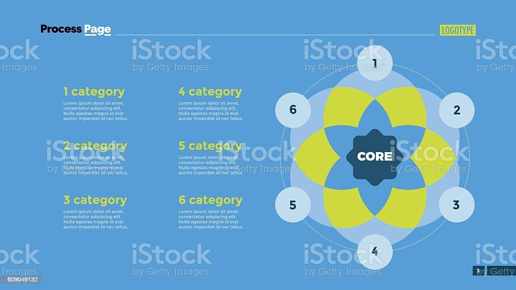 six circle venn diagram slide template royalty-free six circle venn diagram  slide template stock