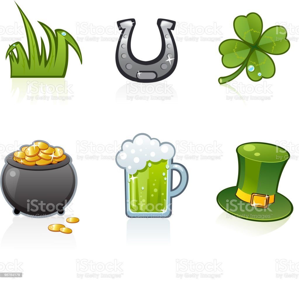 Six different St Patrick's Day icons
