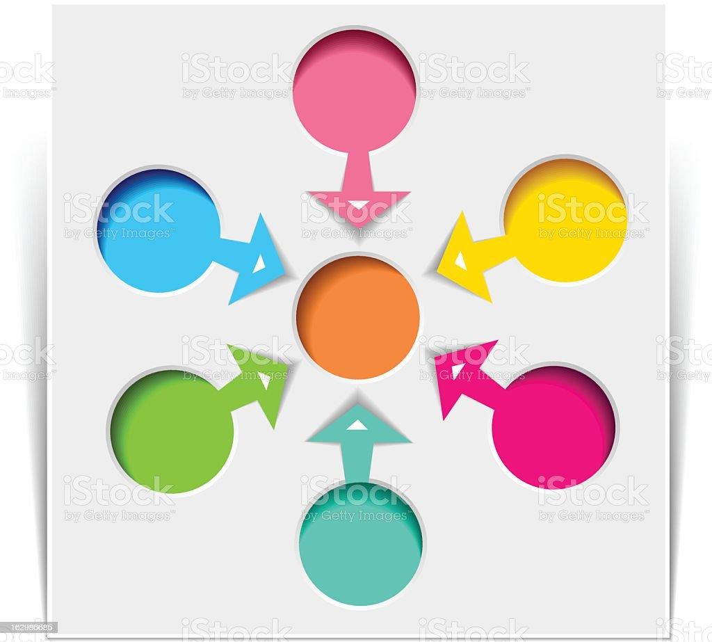 Six Flowchart Diagram royalty-free stock vector art
