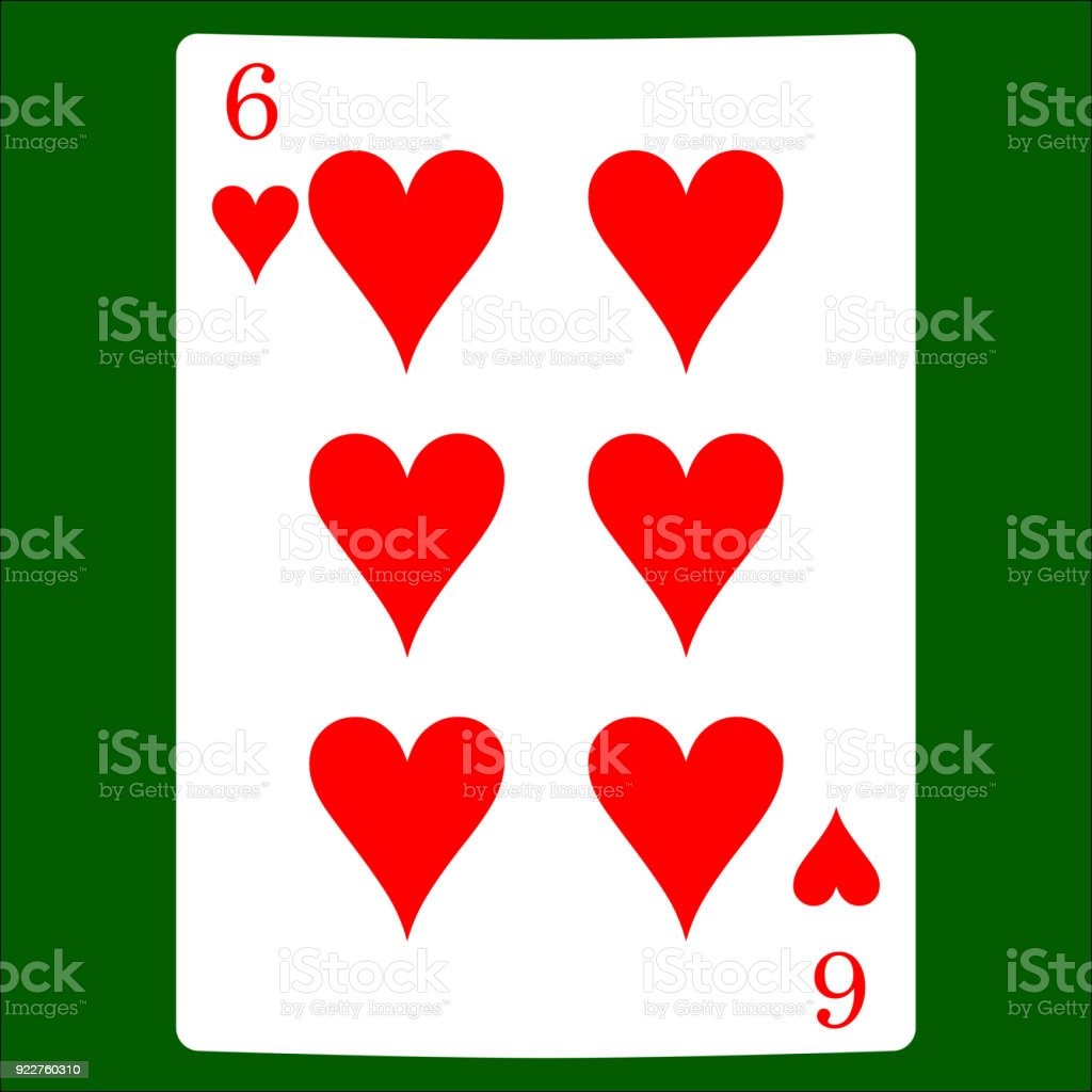 Six hearts card suit icon vector playing cards symbols vector set card suit icon vector playing cards symbols vector set icon symbol biocorpaavc