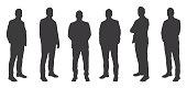 Vector of Six Men Sihouettes