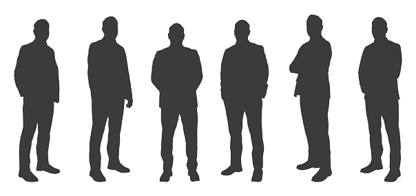 Six Men Sihouettes