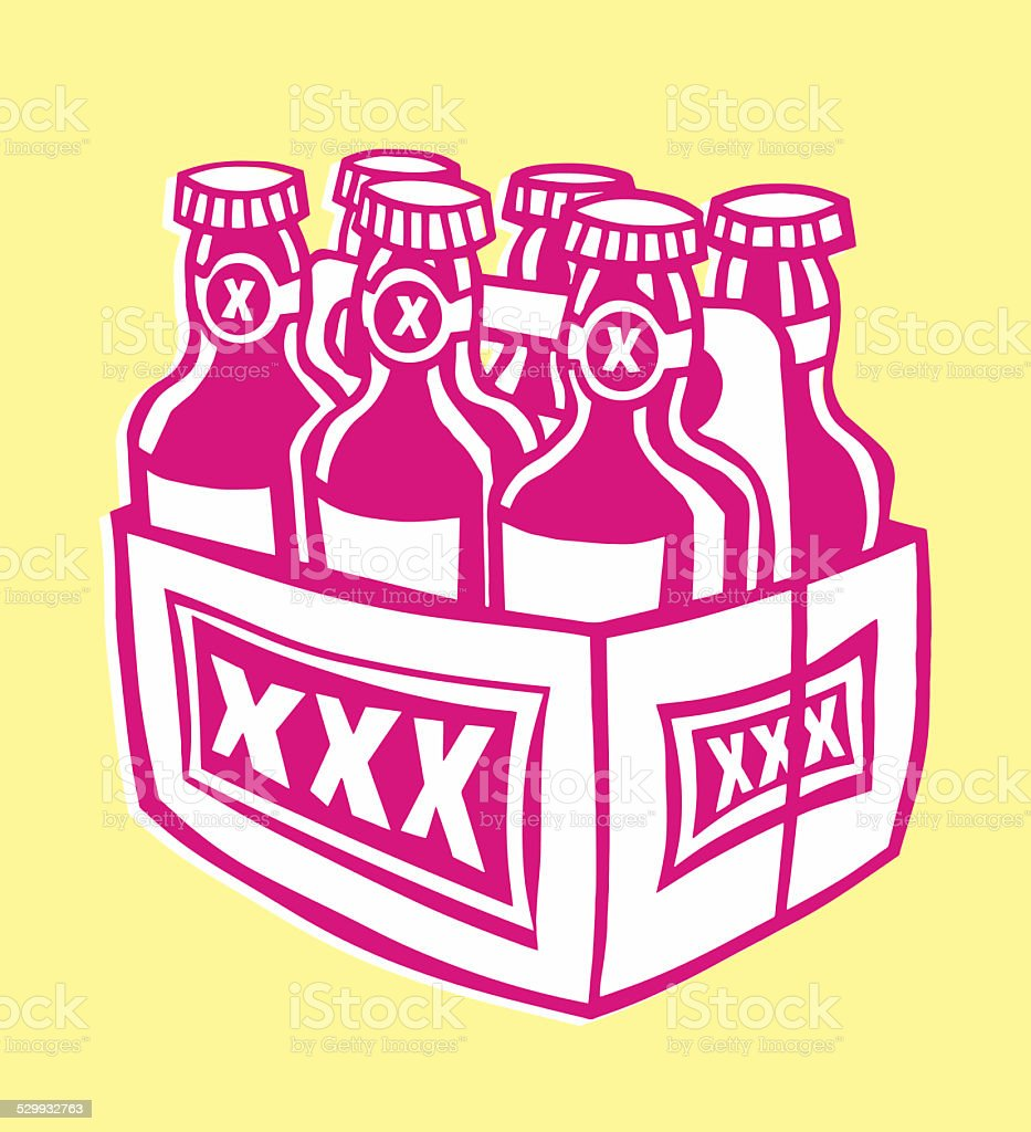 Six Pack Of Beer Stock Illustration Download Image Now Istock
