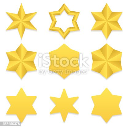 istock Six point stars collection 537450378