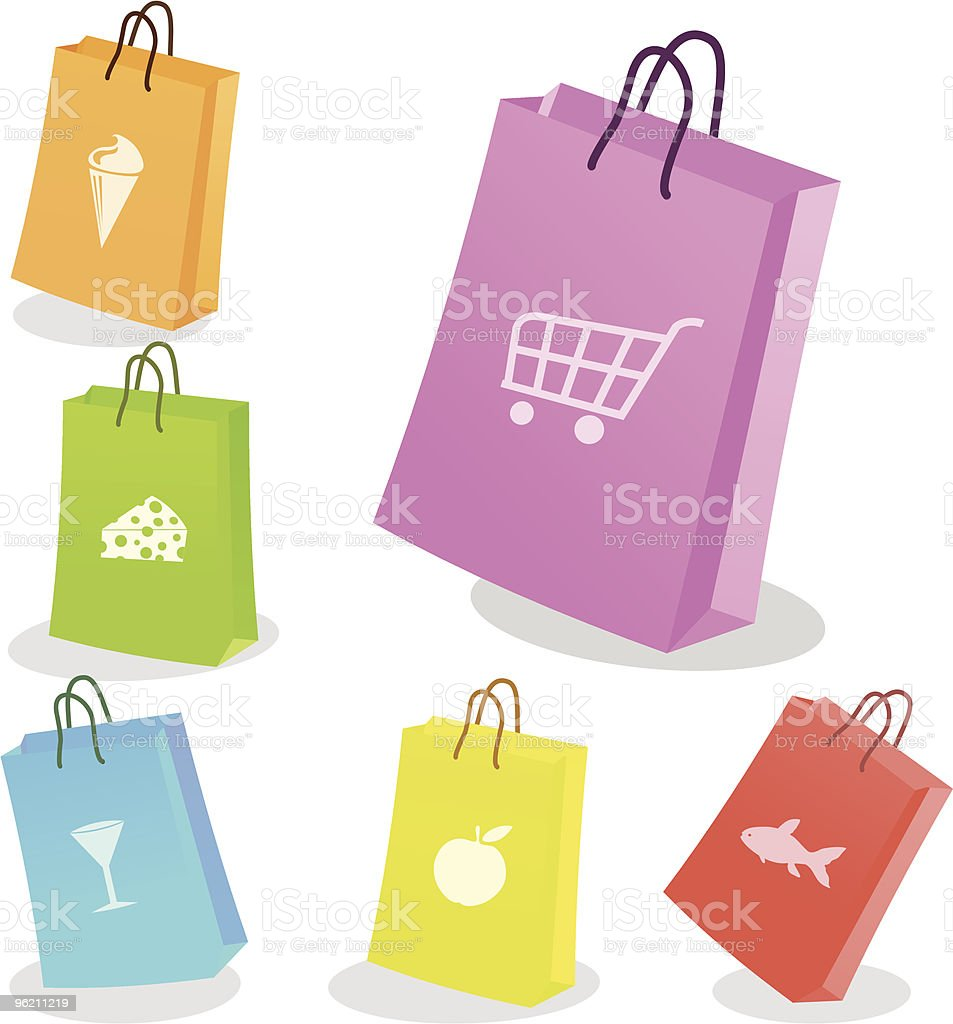 Six shopping bags. royalty-free six shopping bags stock vector art & more images of adult