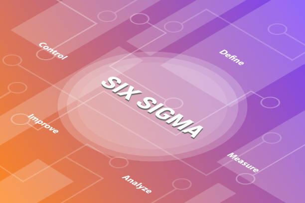 illustrations, cliparts, dessins animés et icônes de six mots concept sigma isometric 3d mot concept de texte avec un texte connexe et point connecté - vecteur - nuage 6