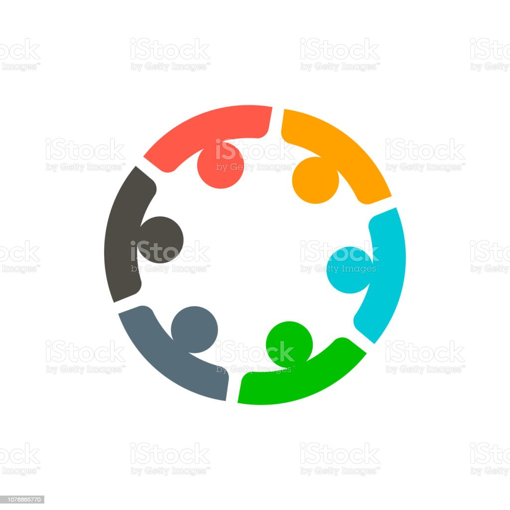 6 팀워크 기업 들 로고 벡터 - 로열티 프리 6 벡터 아트