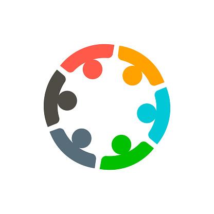 6 팀워크 기업 들 로고 벡터 6에 대한 스톡 벡터 아트 및 기타 이미지