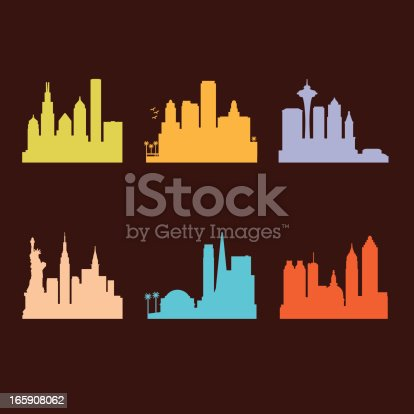 Six United States Cities Skyline.