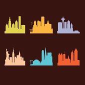 Six United States Cities Skyline