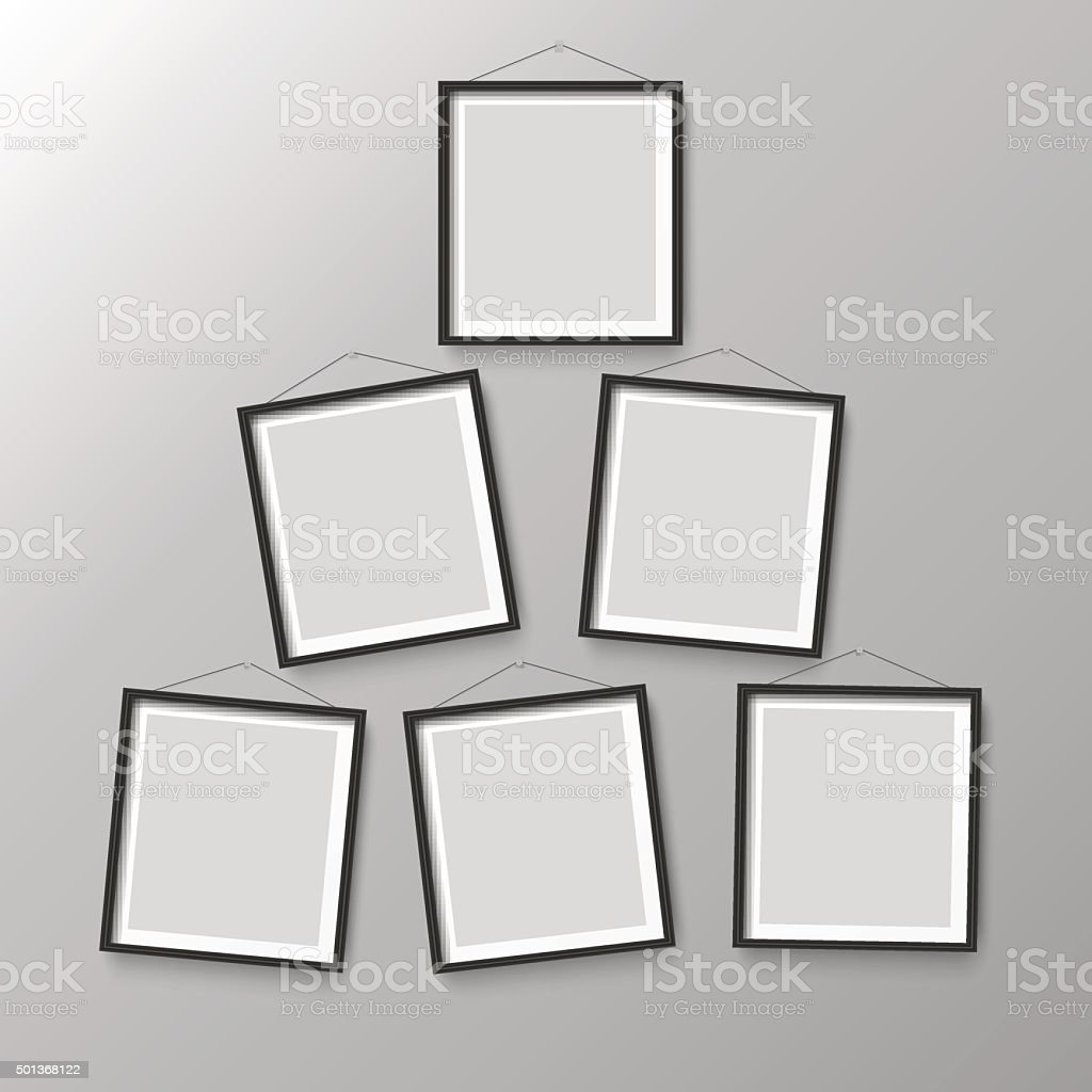 Six Wooden Black Photo Picture Frames Stock Vector Art & More Images ...