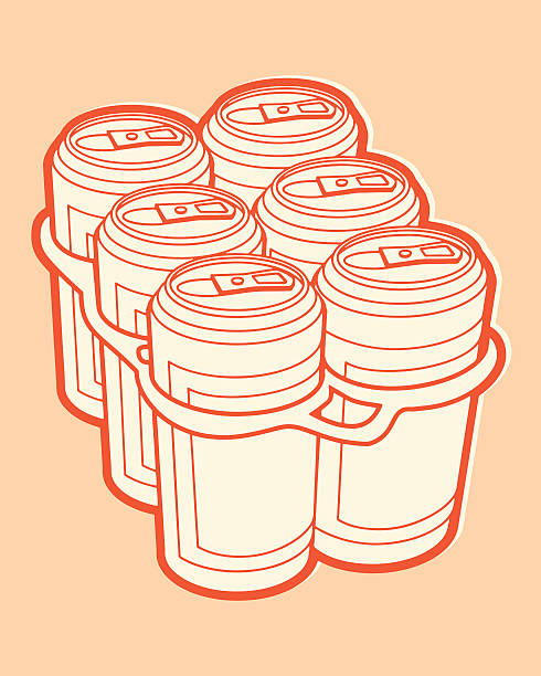 six-pack - bachelor party stock illustrations, clip art, cartoons, & icons