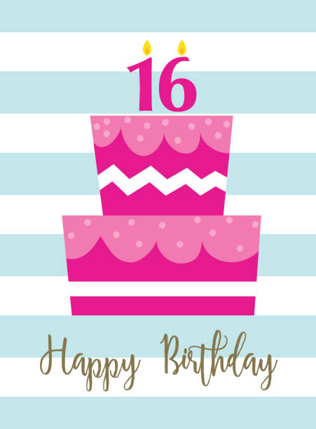 Cartoon Of The Birthday Cake Lots Candles Clip Art Vector Images Illustrations