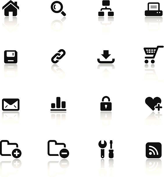 블랙 & 인명별 아이콘 세트/웹 - home icon stock illustrations
