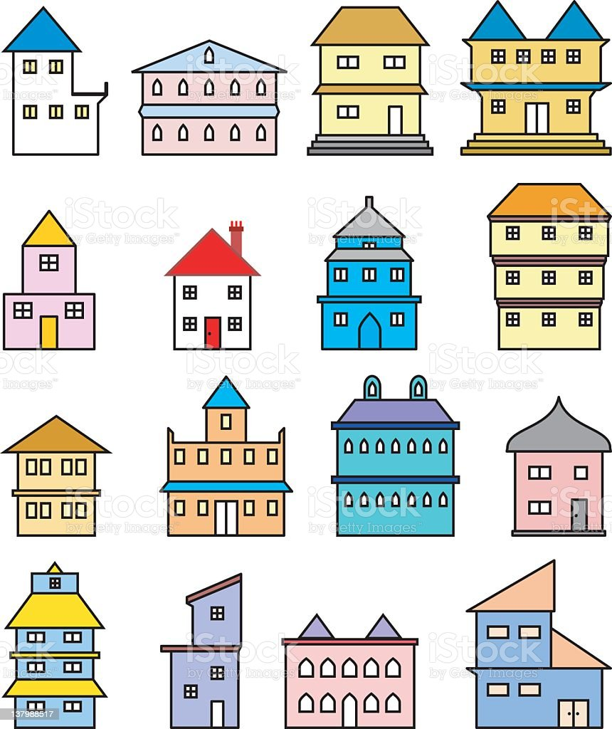 Sixteen Homes royalty-free sixteen homes stock vector art & more images of building exterior